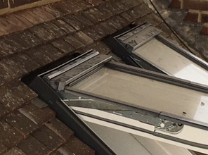 Velux windows in tiled roof by JRM Roofing